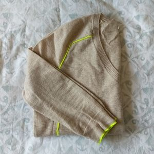 J. Crew Sweater with Neon Piping